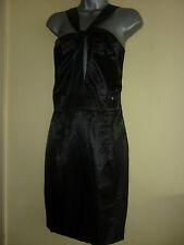 Negro satinado vestido por Miss Sixty Tamaño L UK12/14 BNWT