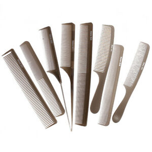 Pro Salon Barbers Hair Styling Pin Comb Detangle Set Hairdressing Combs Kit