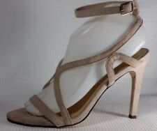 Forever 21 Faux Suede Beige Stiletto Shoes Ankle Strap Strappy Women 7.5 M Heels