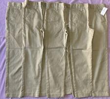 Cat & Jack Boys' 4pk Flat Front Stretch Uniform Chino Pants khaki Size 6