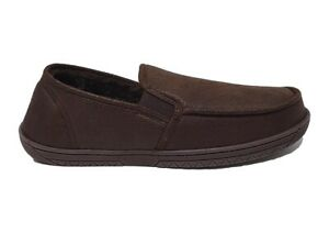 Mens Jo & Joe Warm Comfort Black Gusset Slippers