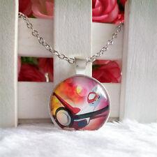 Latias Legendary Pokemon Pendant Tibet silver Cabochon Glass Chain Necklace