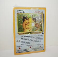 Meowth #10 JR RAILROAD Black Star Promo SUPER RARE Pokemon Card NEAR MINT