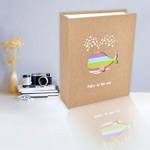 Large Photo Album 6x4 Baby Books Family Memory Albums Holds 100 Pockets Pictures