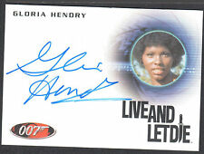JAMES BOND 50th ANNIVERSARY SERIES 2 AUTOGRAPH CARD #A220 GLORIA HENDRY