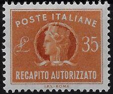 1974 Italia Repubblica Recapito Autorizzato Stelle Turrita £. 35
