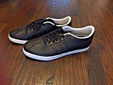 NIB Women's Adidas neo Courtset Baseline Shoe Black with Black Stripes, Size 9.5