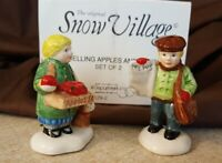 Dept 56 Snow Village Accessory 1988 APPLE GIRL NEWSPAPER BOY 2 Pc 51292 Retired
