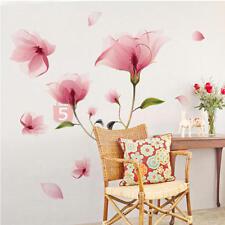 Adesivi Murali Wall Decor Stickers Adesivo Parete TV Fiore Rimovibile Casa