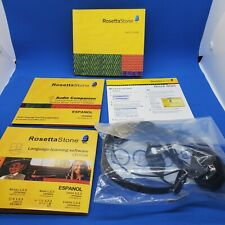 2009 Rosetta Stone Espanol Level 1, 2 & 3 & Audio Companion Spanish Latin