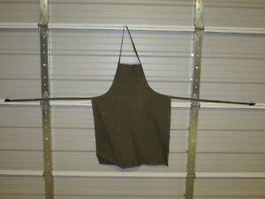 """NEW HEAVY DUTY COTTON WORK APRON, 33"""" x 25"""", OLIVE GREEN (BB)"""