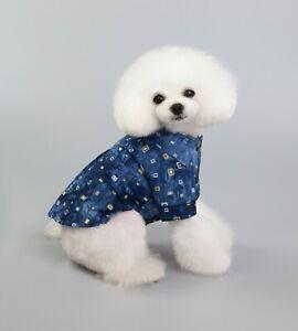 Puppy Blue Boy Dog Apparel Shirt Pet Summer Clothes For Small Medium Large Dog