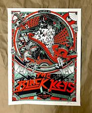 Tyler Stout BLACK KEYS TACOMA WA 2019 Red Variant Tour Poster Art Print #/30