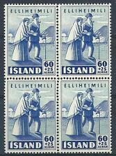 Iceland 1949 Sc# B10 Nice couple block 4 MNH