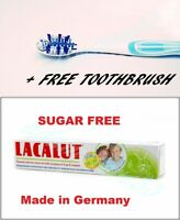 LACALUT KIDS 4-8 years Toothpaste Prevents dental Caries + FREE TOOTHBRUSH