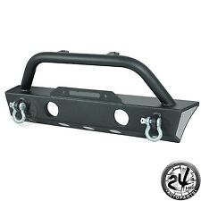 07-17 Jeep Wrangler JK Stubby Unlimited Front Bumper W/D-Rings&OE Fog Light Hole