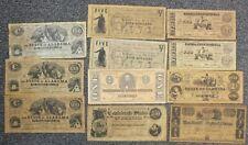 COPY Lot of 11 Confederate Currency Notes Copies CSA Texas Florida Alabama LE248