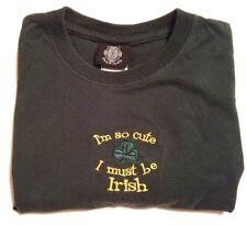 Celtic Fashions Shirt Womens Size M Irish Short Sleeve Green