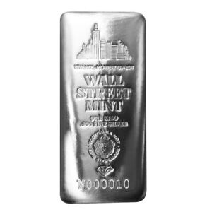 1 Kilo .999 Silver Bar Wall Street Mint Silver Bullion w/ Serial Number #A512