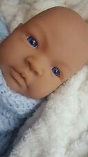 22mm Reborn Baby Doll Eyes Half Round Acrylic Blue Eyes