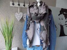 XXL Sterne rose Schal Tuch Rautenschal Trend kuschlig NEU Fashion (882)