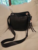 VINCE CAMUTO FARIA CROSSBODY Purse NWT PEBBLE LEATHER MSRP $198 Black