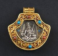 Padmasambhava a Sospensione Amuleto Tibetano Gouru Rinpoche- Libro, Gau 26500