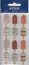 Ice Cream Lollies Craft Embellishment | Hand Finished 3D Sticker