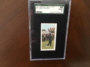 1971 BARRATT & CO. GOLDFLAKE GARY PLAYER GOLF CARD #11 SGC 88 /8