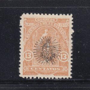 Salvador 1900 Overprinted in black II  Sc 276  mint