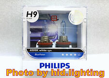 PHILIPS H9 12V 65W BLUE VISION 4000K WHITE HALOGEN BULBS lamp light HIGH BEAM