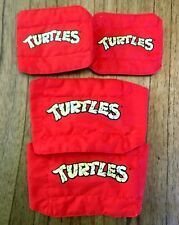 Raphael Vintage TMNT Ninja Turtles Knee & Elbow Pads Set Lot 1988 Cosplay Raph