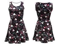 Love Hearts Heart Rockabilly Skater Vintage Retro Dress Alternative Fashion