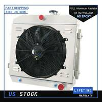 3 Row Radiator Shroud Fan For 1955 1956 1957 Chevy Bel Air V8 Mount SUPPORT