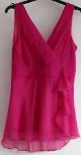 NEXT Silk V neck sleeveless  top.Size 12 .Pink.