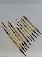 X10 Handmade Scorched Reed Waggler Floats