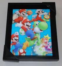 2015 Nintendo Pyramid 3D Holographic Picture Wall Decor Super Mario Yoshi