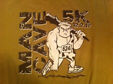 MAN CAVE Caveman 5K 12/2/12 Medium T-shirt HEAVY SEAS Santoni's GLORY DAYS GRILL