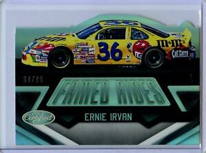 2016 Panini Certified Famed Rides MIRROR SILVER Parallel Ernie Irvan #64/99