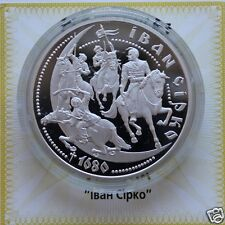 IVAN SIRKO Ukraine 10 Hryvnia 1 Oz Silver  2002 Proof Coin Cossack Ataman KM#145