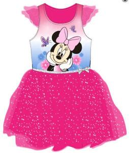 Kleid Minnie Maus DISNEY Sommerkleid Mädchen Tüllkleid Prinzessin Ballett Mouse