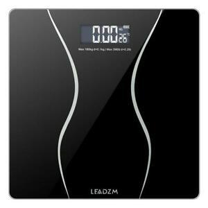 LEADZM 180Kg Slim Waist Pattern Personal Scale Black