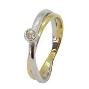 9ct Yellow White Gold .10ct Round Solitaire Diamond Single Stone Engagement Ring