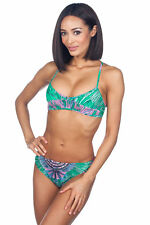 Rosa Cha Underwire Bandeau Bikini 2518 - GREEN/PINK, Small