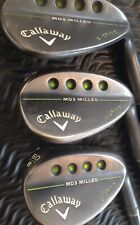 Callaway Golf MD3 Milled Wedges 52° 56° 60° Set Stiff With New Callaway Grips