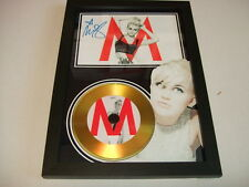 miley cyrus  SIGNED  GOLD CD  DISC  91
