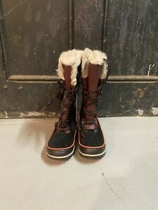 New Sorel Tivoli High Snow Boots Black Womens, 8.5