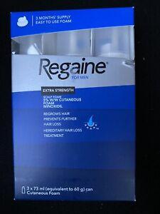 Regaine for men extra strength 3 months Foam 3x73 ml New And Long Expiry Genuine
