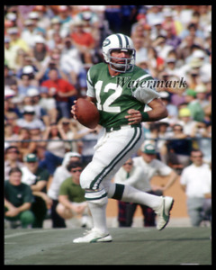 NFL New York Jets Joe Namath Looking Downfield Color 8 X 10 Photo Picture