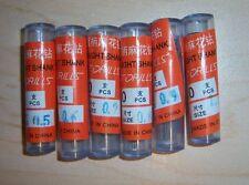 10pcs each Micro 0.5mm-1.0mm HSS(High Speed Steel) total 60 drill bits USA